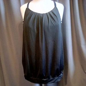 Cacique Swim size 18 swim suit top black and white